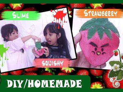 DIY Strawberry Squishy And Slime FarmasyaArtClip