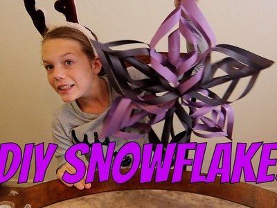 ❄DIY TUTORIAL FOR PAPER SNOWFLAKES!! ❄
