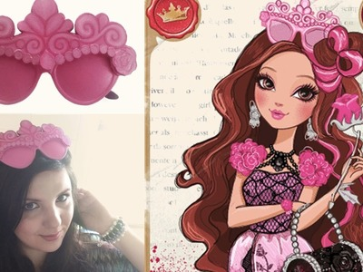 Ever After High CRAFT  ~  How to make BRIAR BEAUTY HEADPIECE. GLASSES
