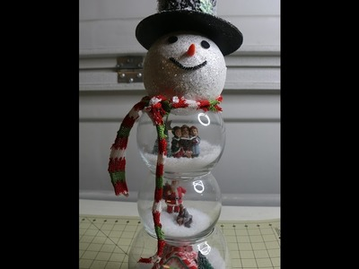 Fish Bowl Snowman Craft