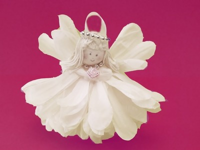 Gorgeous Flower Angel .  Simple .  DIY .  craft project.