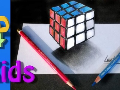 How to draw a 3D Rubik Cube step for step. #26