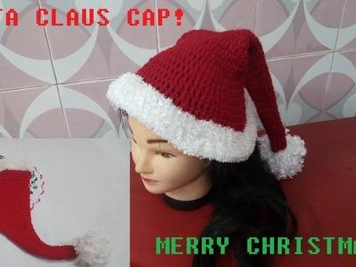 How to make a Santa Claus Hat! Crochet Santa Cap