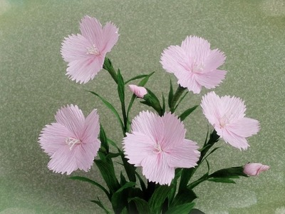 How To Make Dianthus Chinensis From Crepe Paper - Craft Tutorial