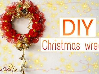 How to make DIY Christmas Wreath - Christmas Room decor Ideas - DIY Christmas Decorations!