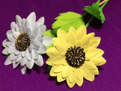 How to make(Fold) origami sunflowers easy.DIY Sunflower paper craft.sunflower paper tutorial