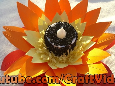 How to make paper flower candle decoration | Candle Decoration | Handmade New Year Decorations