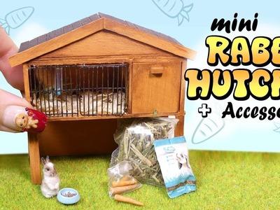 Miniature Rabbit Hutch & Accessories Tutorial. DIY Bunny Cage