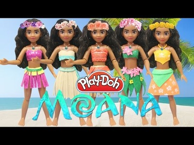 "Play Doh Dress ""Moana"" Disney Princess - Play Doh Craft N Toys"