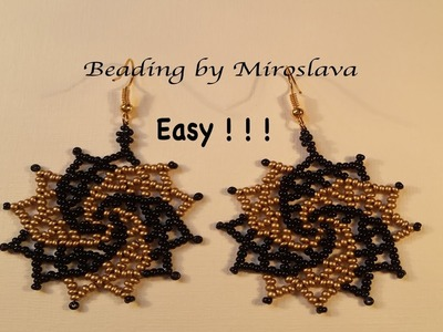 SUPER EASY Gracious Beaded Earrings. Beading Tutorial by Miroslava