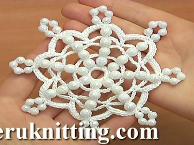 Crochet Beaded Snowflake How to Tutorial 36