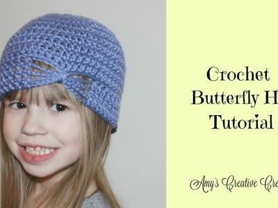 Crochet Butterfly Hat Tutorial (All Sizes)