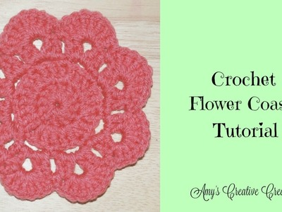 Crochet Flower Coaster Tutorial