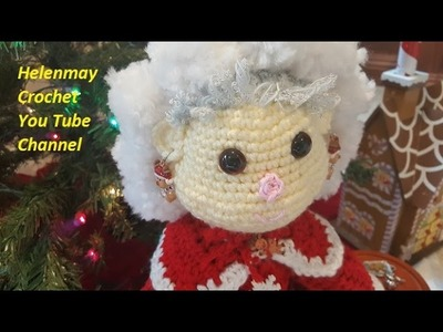 Crochet Mr. and Mrs. Santa Claus Heirloom Dolls Part 3 of 4 DIY video tutorial