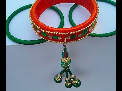Designer silk thread bangle I bridal wear silkthread bangles I how to make silk thread bangles