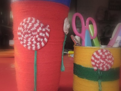 DIY crafts : How to recycle tin cans to make a pencil holder or desk organizer