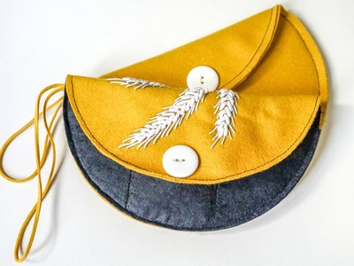 DIY Crafts Tutorial | Make Cute Felted Purse with Card Holder | HandiWorks #87