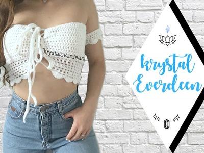 DIY Crochet Top. Braedyn Bralette part  2