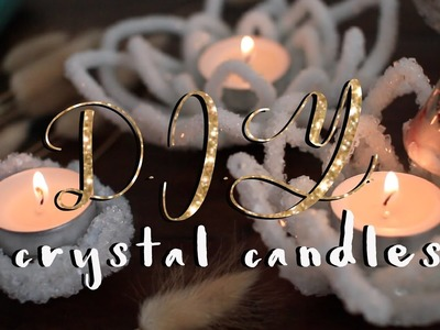 DIY CRYSTAL CANDLE HOLDERS!. Boho Room Decor Tutorial