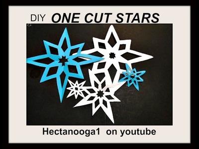 DIY CUTOUT PAPER STARS, how to make a paper snowflake, Christmas decor, home decor