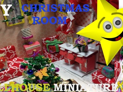 DIY DollHouse Cute Miniature Kit.Chistmas Living room. How To Make a Christmas room