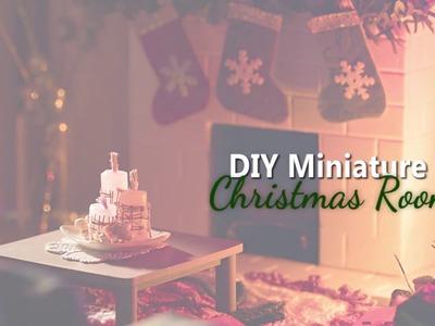 DIY Dollhouse - Miniature Christmas Room for Toy Photography
