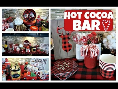 DIY Hot Cocoa Bar | Hot Chocolate Station | Day 10 of 12daysofChristmaswithBianca