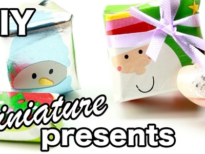 DIY - Miniature Christmas Present.Gifts! (ACTUALLY WORKS) - Christmas.Holiday Tutorial