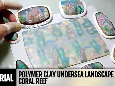 DIY Polymer clay Undersea Landscape or Coral Reef. New and Unique VIDEO Tutorial!