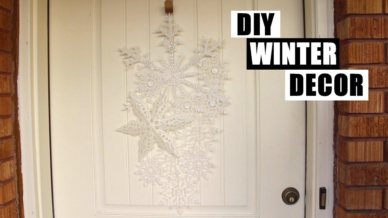 Easy & Cheap DIY Front Door Winter Decor Tutorial | How To Make A DIY Winter Wreath