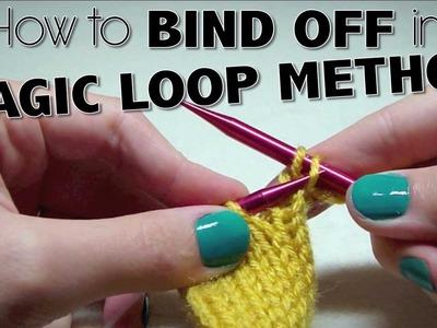 HOW TO BIND OFF IN MAGIC LOOP METHOD