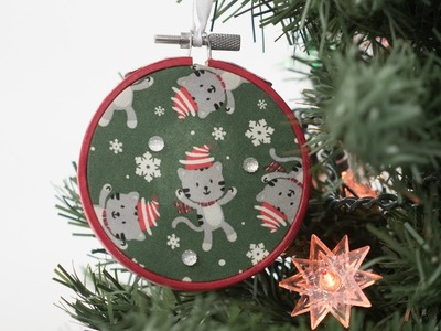 How to Create an Embroidery Hoop Ornament