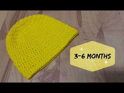 How to crochet a hat for 3-6 months old baby? | !Crochet!