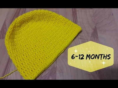 How to crochet a hat for 6 -12 months old baby? | !Crochet!