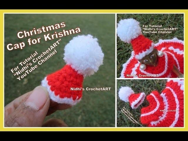 How to Crochet- NEW Mukut Mughat Crown Christmas CAP for Ladoo Gopal Baal Krishna