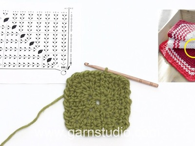 How to crochet the Christmas cloths in DROPS Extra 0-1338