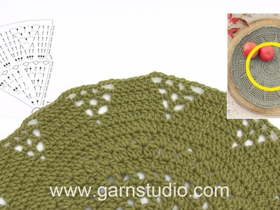 How to crochet the table cloth in 0-1345