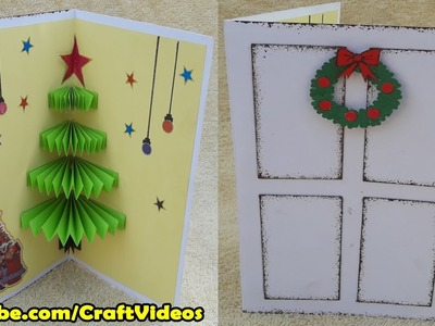 How to make 3D Christmas Pop Up Card | Handmade Pop Up cards
