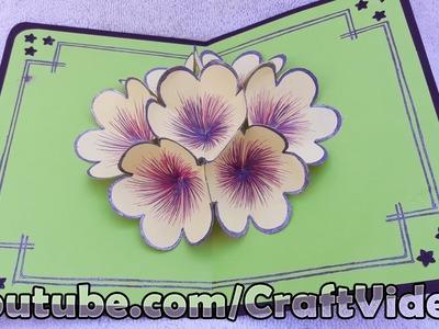 How to make 3D Flower Pop Up Card | Pop up Flower Greeting Cards | Pop up Flower Card