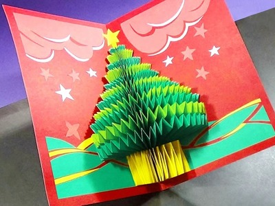 How To Make A 3d Christmas Pop UP Card |