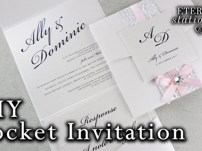 How to make a belly band pocket invitation | DIY wedding invitations