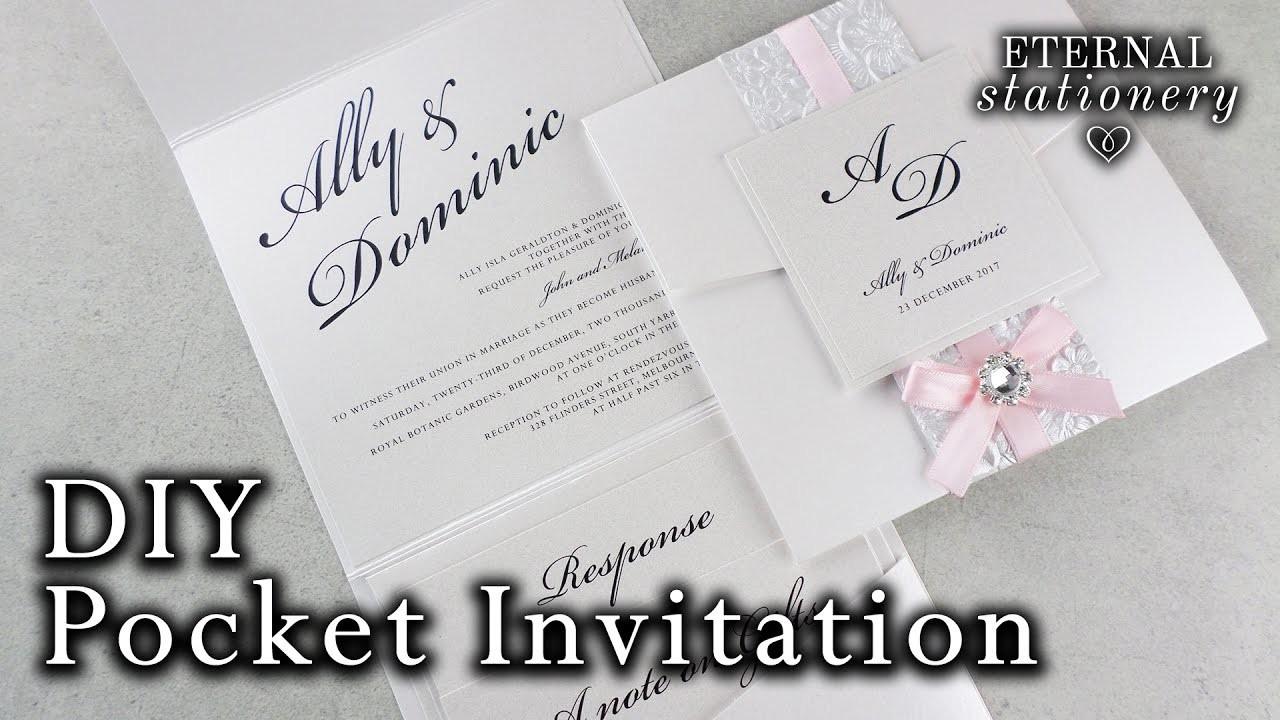 How to make a belly band pocket invitation | DIY wedding invitations