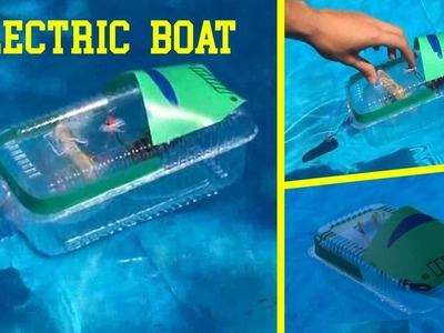 How to Make a Electric Boat (Very Easy)  ||  Electrical Engineering Projects