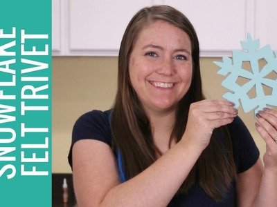 How to Make a Felt Ombre Snowflake Trivet with the Cricut Explore Air 2