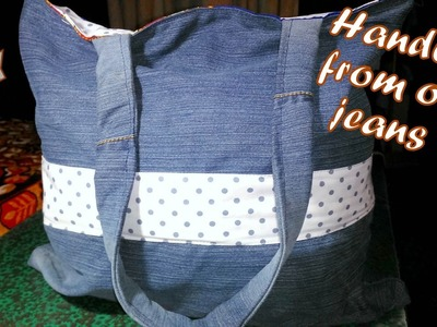 How to make a handbag from old jeans