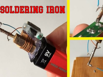 How to Make a Mini Powerful DC Soldering Iron || Electrical Engineering Projects