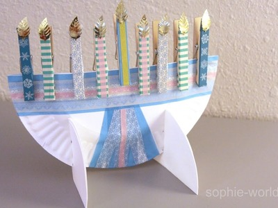 How to Make a Paper Plate Menorah | Sophie's World