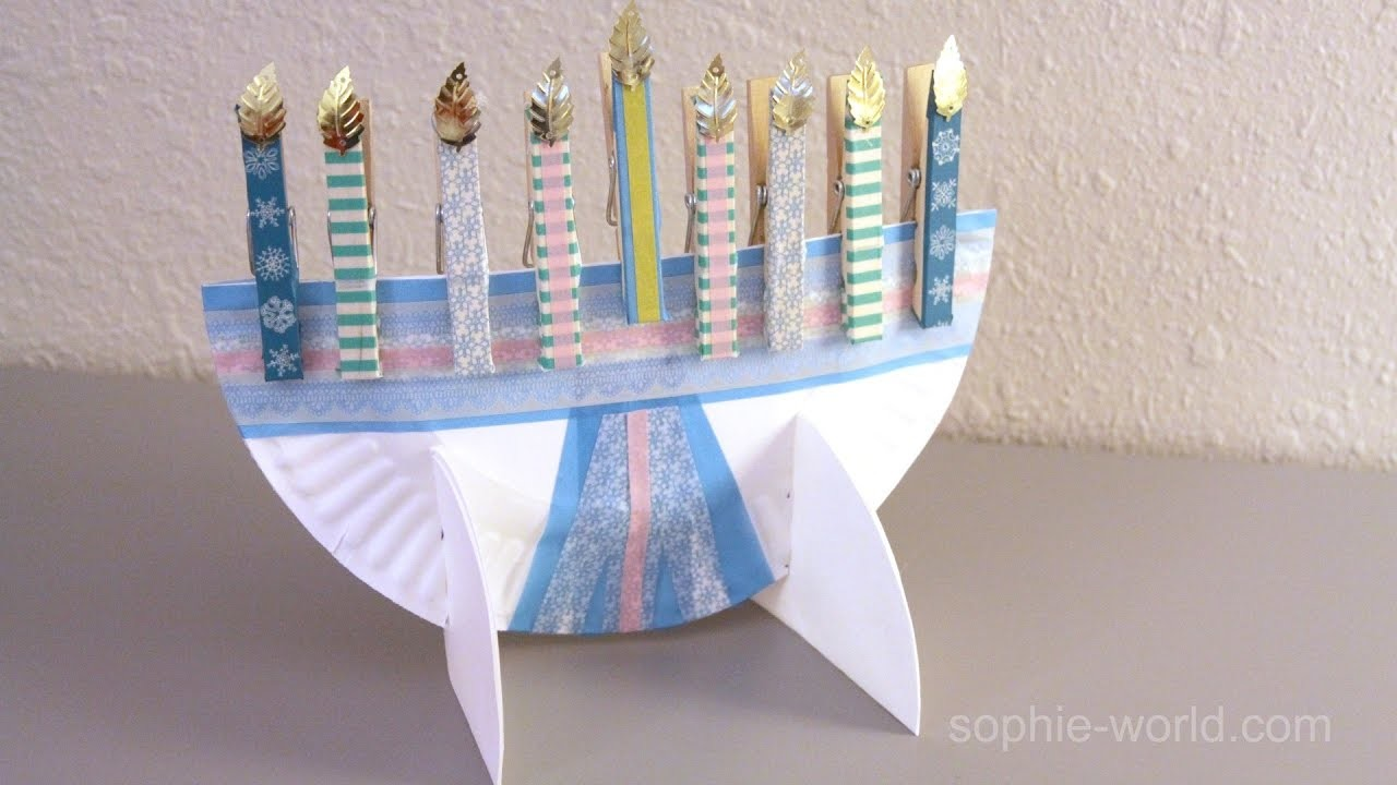How to Make a Paper Plate Menorah   Sophie's World