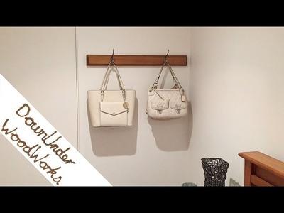 How to make a simple coat rack, bag rack
