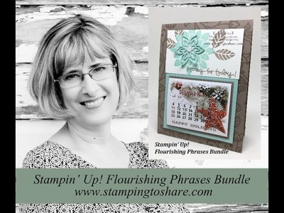 How to Make a Stand Up Calendar Card with Flourishing Phrases